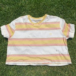 5 colored striped Small Billabong Crop Top